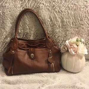 Lodis brown leather Hobo style purse